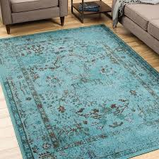 teal grey area rug 5 x 7 6 free shipping today overstock