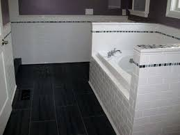 outstanding white subway tile bathroom new basement and tile ideas