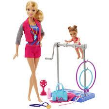 Princess Kitchen Play Set Walmart by Barbie Gymnastic Coach Doll And Playset Walmart Com