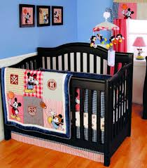 baby mickey mouse disney sports theme nursery crib bedding set
