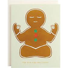 Yoga Gingerbread Man Holiday Card