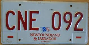 File:2003-2004 Newfoundland And Labrador Truck License Plate CNE-092 ...