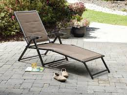 Aluminum Sling Stackable Patio Chairs by Garden Oasis Harrison Matching Folding Padded Sling Chaise