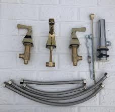 mode luxus messing amerika stil badezimmer verbreitet 8 drei loch gold beendet basin wasserhahn waschbecken mixer mit pop up