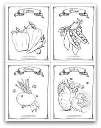 Free Printable Garden Peppers Peas Onions And Lettuce Coloring Activity Page For