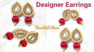 How To Make Silk Thread Designer Earrings//Paper Designer Earrings ... How To Make Pearl Bridal Necklace With Silk Thread Jhumkas Quiled Paper Jhumka Indian Earrings Diy 36 Fun Jewelry Ideas Projects For Teens To Make Pearls Designer Jewellery Simple Yet Elegant Saree Kuchu Design At Home How Designer Earrings Home Simple And Double Coloured 3 Step Jhumkas In A Very Easy Silk Earring Bridal Art Creativity 128 Jhumka Multi Coloured Pom Poms Earring Making Jewellery Owl Holder Diy Frame With