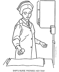 Military Nurse Coloring Page