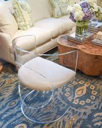 Lucite Chair, Blue Rug, White Couch And Burl Wood Table ... Choosing Ding Tables For Your Small Space And Decorate It Lucite Room Chairs Kallekoponnet Parisian Elegance Interiordesign By Chan Minassian China Acrylic Crystalclear Ghost Truck Coffee Table Ella Acrylic Ding Chair Safavieh Modern With Casters Brilliant Fniture How To Mix Match Like A Boss 28 Pairs Vintage Pace 22 Ideas Styling Awesome Chair Fizz Transparent Gel Love South End Style