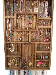 Jewelry Display Case Handmade Wood Wall Art For The Home