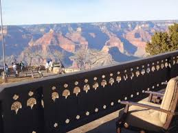 view from patio picture of el tovar hotel grand canyon national