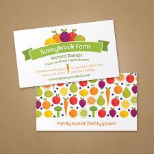 Fruit And Veggie Business Card Vistaprint Business Card