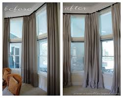 Fabric For Curtains Diy by Ruffled Drop Cloth Curtains A Small Snippet