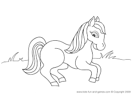 Cute Horse Coloring Pages Part Of The Farm Animal Printables Collection At Kids Games Central