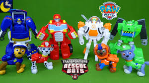 Paw Patrol Pups New Friends Transformers Rescue Bots Transforming ...