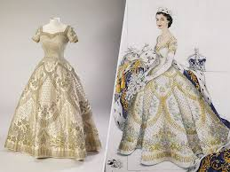 queen elizabeth u0027s wedding and coronation dresses display