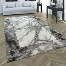 wohnzimmer teppich 3 d bordüre marmor muster