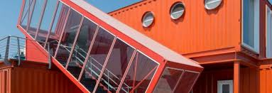 100 Modern Containers 7 Bright Red Shipping Containers Repurposed As Modern