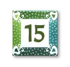 three styles of talavera address number tiles these ceramic house