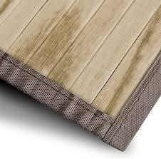 casa pura bambusteppich magenta natur für bad und wohnzimmer natürlich wohnen bambus bambusmatte in vielen größen 160x230 cm