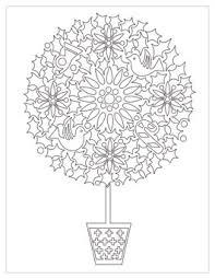 Printable Christmas Coloring Page Topiary