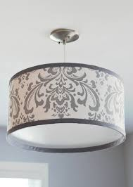 Diy Punched Tin Lamp Shade by Diy Chandelier Drum Shade Shows How She Attached Th Shade To Her