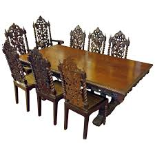Jacobean Style Dining Table And Eight Chairs, Late 19th/early 20th Century Ten Piece Jacobean Style Ding Room Harvest Set Jacobean Style Ding Table Sahanhme Antique Jacobean 7piece Ding Set Wood Room Chairs Table Buffet China Superb Of 8 Oak Made In The Uk Jacobeanstyle Brixton Ldon Gumtree Style And Six Fniture Characteristics Collection Of Bluewhite China On Heavy Carved Oak With Rustic 132198 Cm Extending And 6 Revival Plank Top Trestle Six Chairs Oyster Coalville Leicestershire I Have A 1940s Vintage Solid Mahogany Room Set That English Chair 4 Barley Twist C1900