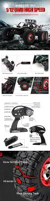 100 Monster Truck Backpack RC Model Vehicles And Kits 182181 Brushless Rc Car 6Wd Electric Rc