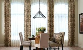 Dinning Room Bay Window Curtain Ideas Living And Dining Treatments Pictures