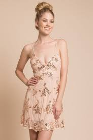 shop the sofia open back lace dress rose gold selfie leslie