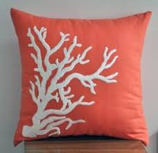 Coral Colored Decorative Accents by This Coral Pillow Cover Will Be A Great Decor For Your Cottage