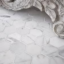 fresh design marble hexagon floor tile carrara images home
