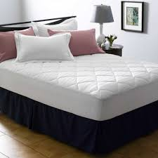 Bed Bath Beyond Mattress Protector by Dr Maas 400 Thread Count Mattress Pad In White Bed Bath U0026 Beyond