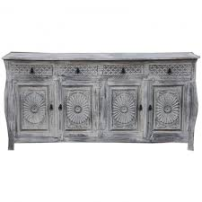 French Colonial Sideboard Whitewash 180cm