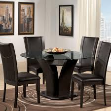 Elegant Kitchen Table Decorating Ideas by New Kitchen Dining Table Sets With Clio Modern Round Glass Kitchen