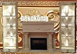 dekokönig medusa wohnwand säulenvitrinen kamin