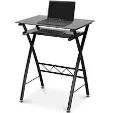bureau ordinateur en verre miadomodo petit bureau d ordinateur table informatique meuble pc