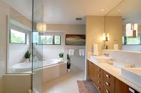 bathrooms contemporary bathroom with cool modern chandelier