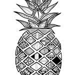Zentangle Pineapple Coloring Sheet