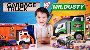 100 Garbage Truck Youtube VS Mr DustyToys Unboxing And Playing With Jelly