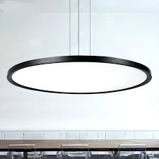 Hanging Lights For Office Modern Lighting Led Lamp Thin Circular Dining Room Minimalist