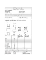 Lovable Order A Wedding Cake Download Wedding Cake Order Form