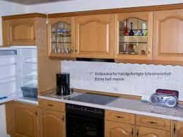 küche eiche hell massiv eckküche mit kühlschrank blomberg 2017