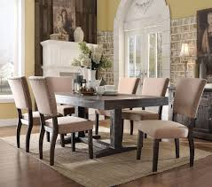 ACME Furniture 71710 Salvaged Dark Oak Dining Table With Six Chairs
