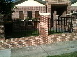 Exteriors: Brick Fence For Exterior Housing Design. Bold Fence ... Wall Fence Design Homes Brick Idea Interior Flauminc Fence Design Shutterstock Home Designs Fencing Styles And Attractive Wooden Backyard With Iron Bars 22 Vinyl Ideas For Residential Innenarchitektur Awesome Front Gate Photos Pictures Some Csideration In Choosing Minimalist 4 Stock Download Contemporary S Gates Garden House The Philippines Youtube Modern Concrete Best Bedroom Patio Terrific Gallery Of