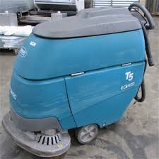 floor scrubber tennant t5 eco h20 battery electric walk behind