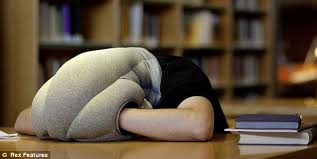 Ostrich Pillow Bizarre invention means people can nap anywhere