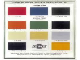 100 Truck Colors 1938 Chevrolet Jim Carter Parts