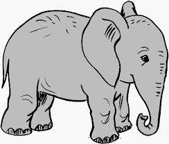 Elephant clip art black and white free clipart 3 Clipartix