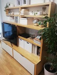 wohnzimmer ikea aufbewahrung regal borghamn gut erhalten