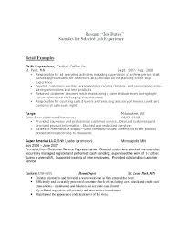 Sample Resume For Cashier Job Description Retail In Example